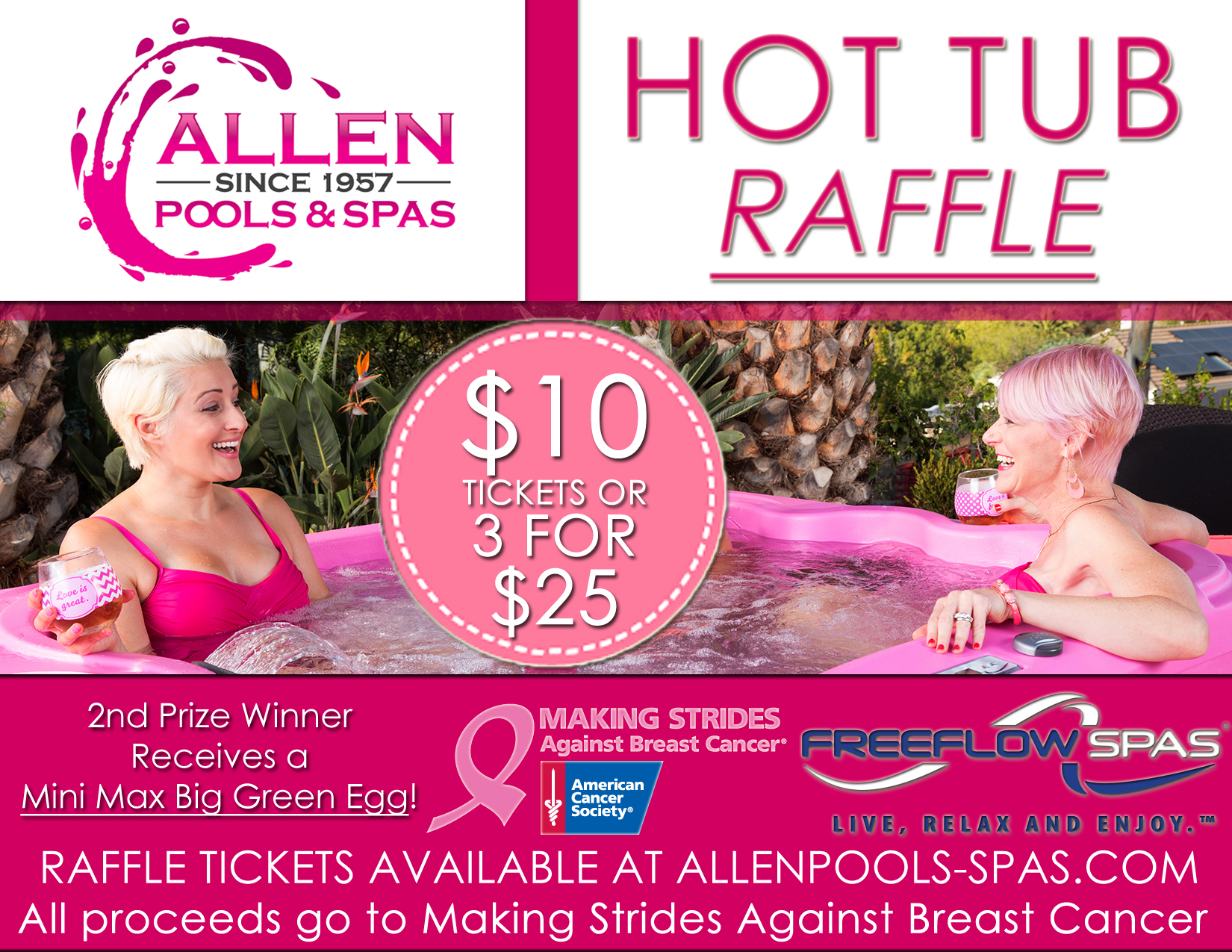 hot tub raffle giveaway