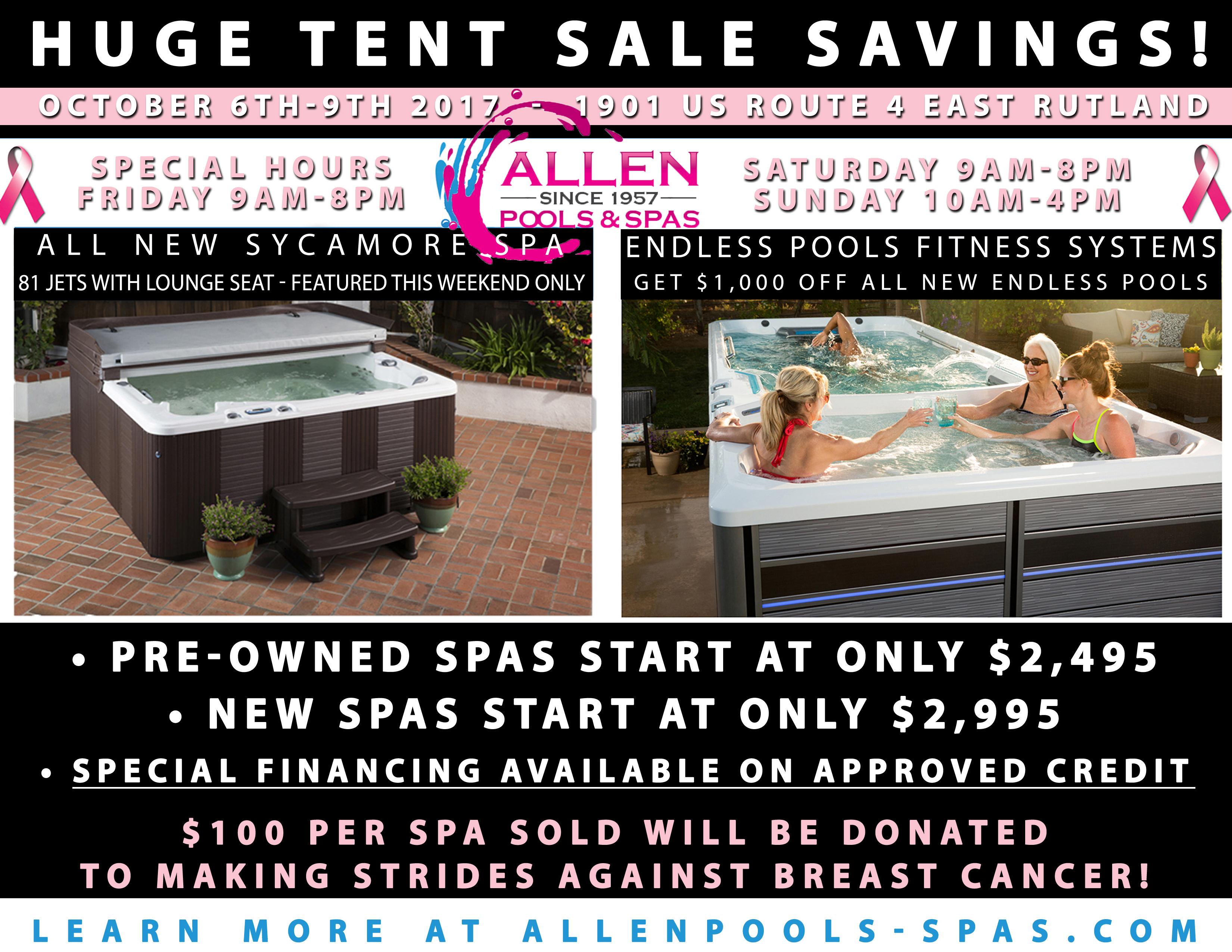 Huge Tent Sale Savings – October 6th-9th