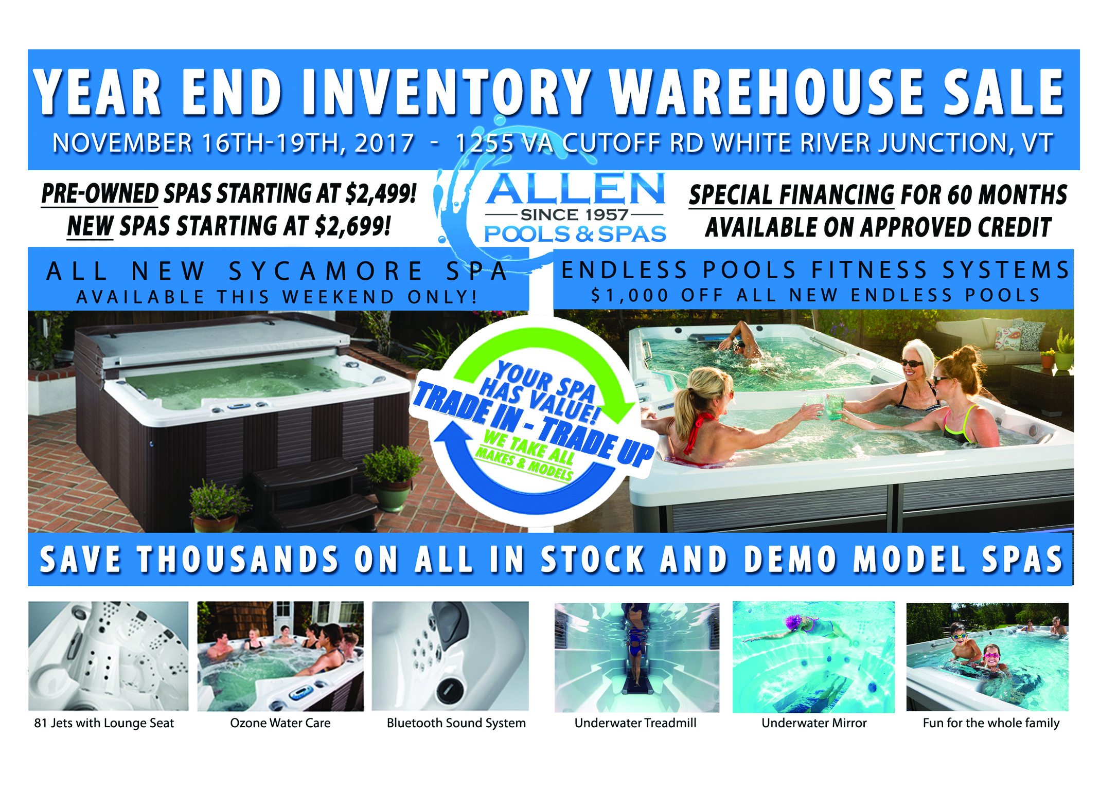 Year End Inventory Warehouse Sale