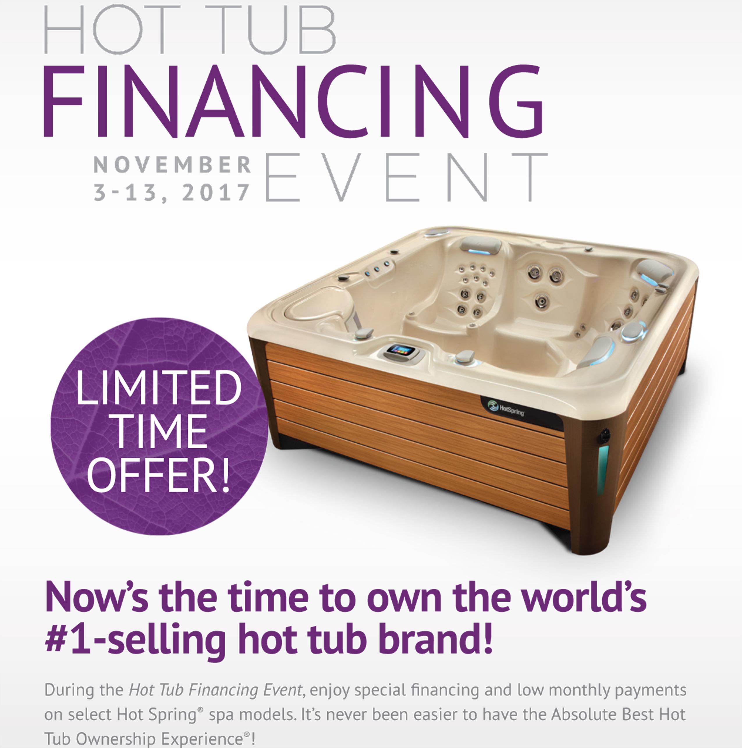 Hot Tub Financing Event