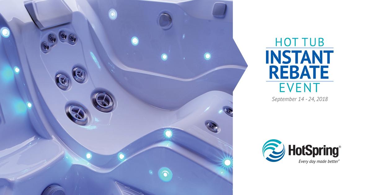 Hot Tub Instant Rebate Event