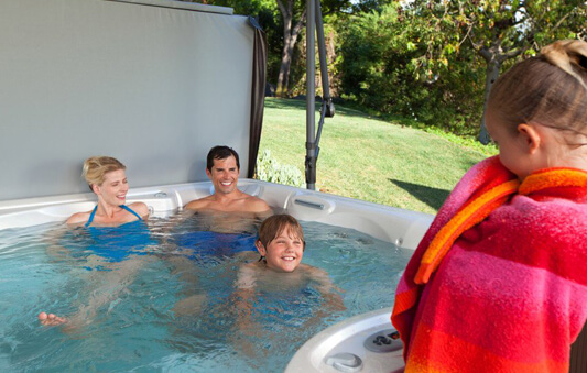 hot tub family fun
